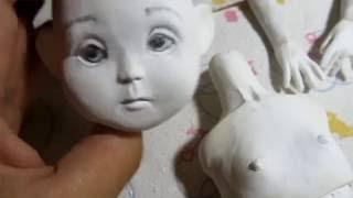 Авторская кукла, мастер класс, лепные части