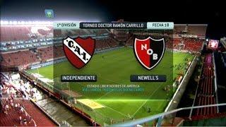 Fútbol en vivo. Independiente - Newell's. Fecha 18. Torneo Primera División. FPT.
