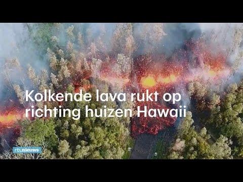 Heftig beeld uitbarsting vulkaan Hawaii:  'Je hoort de explosies' - RTL NIEUWS