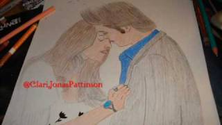 Dibujando / Drawing Robert Pattinson & Kristen en / on New Moon :)