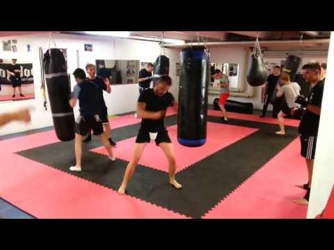Krav Maga - Heavy Bag drill  with inside & outside defenses vs Punches Image 1