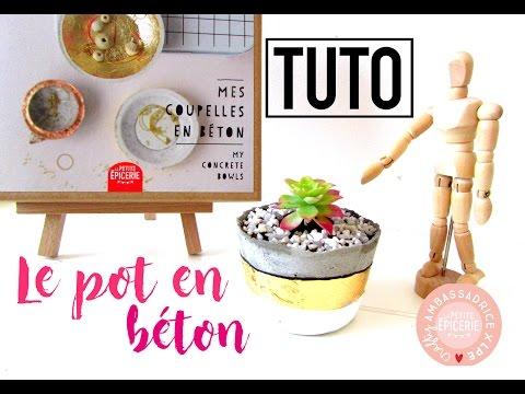 TUTO - Le pot de plante en béton KIT