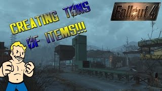 FALLOUT 4: How To Mass Produce Items w/ The Conveyor Belt (Contraptions DLC)