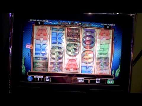 Slot machine bonus on Fish in a Barrel at Bally's Casino in Atlantic City. NJ