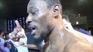 Tyrone Brunson Post fight after stopping Kermit Cintron