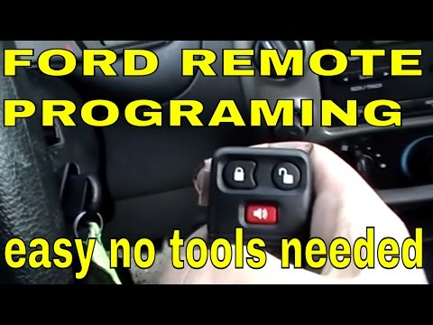 FORD RANGER How to program keyless entry remote control. RKE transmitter P/N: 8L3Z-15K601-AA