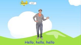 The Hello Song For Children | Preschool, Kindergarten, Learn English