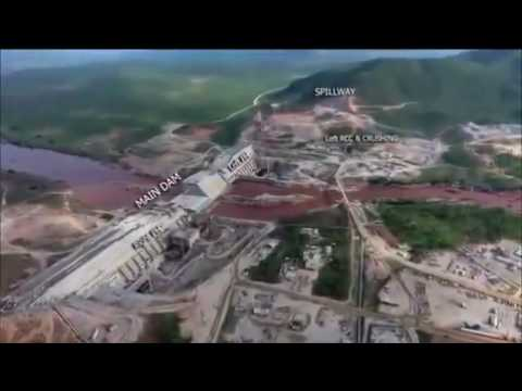Ethiopia - Drone Video footage of Grand Ethiopian Renaissance Dam and Gibe 3 Dam