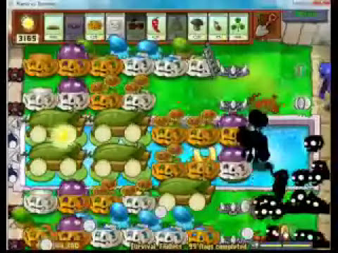 Plants vs Zombies - Survival endless - Flag 98 to 100