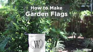 DIY No-sew Garden Flag Tutorial