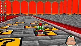 New Super Mario Kart - 150cc Mushroom Cup (Unlocking Waluigi)
