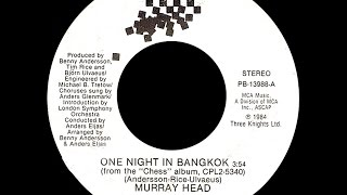 Murray Head One Night In Bangkok Chess Medley 1984 Disco Purrfection Version