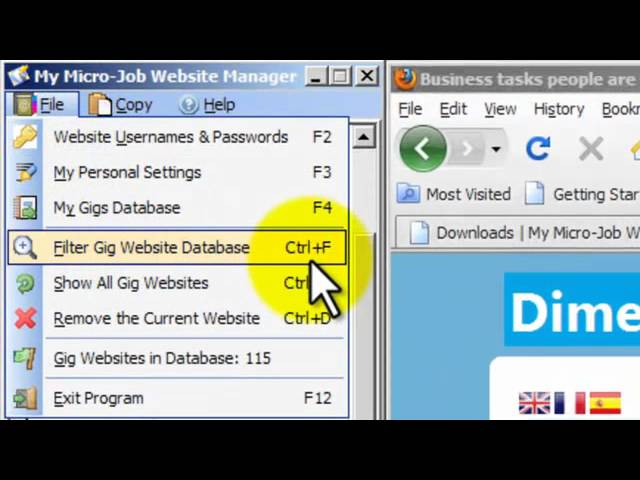 My Micro-Job Website and Gig Manager Software Tutorial Video 01