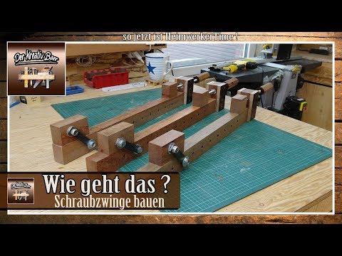 ✅ Schraubzwinge einfach selber bauen aus Holz !  wie geht das ? | NEU