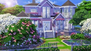 Perfectly Pink Victorian Home - The Sims 4 House Speed Build