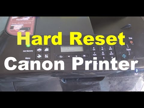 How to Hard Reset Canon Printer Error