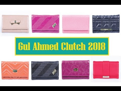 clutch purses By Gul Ahmed 2018 / clutch purses Designs / Shop Now
