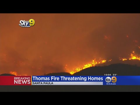 Thomas Fire Threatening Homes