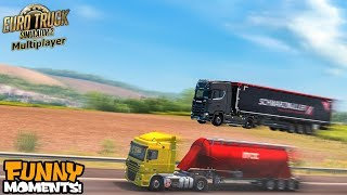 Euro Truck Simulator 2 Multiplayer Funny Moments & Crash Compilation #64