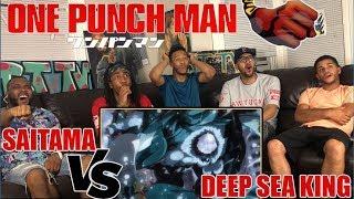 ONE PUNCH MAN SAITAMA VS THE DEEP SEA KING! EPISODE 9 REACTION/REVIEW