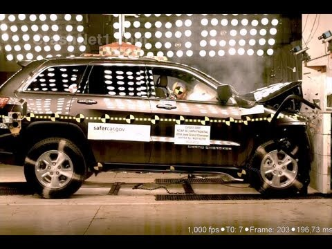 2014 Jeep Grand Cherokee (Early Release)   Frontal Crash Test by NHTSA   CrashNet1