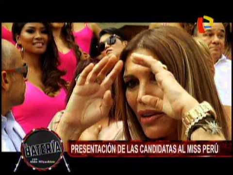 Nota -  Presentacion De Las Candidatas Al Miss Peru