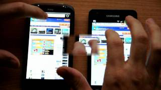 Htc Sensation XE vs Samsung Galaxy S2 Boot And Browser Comparison