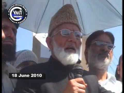 cvmnKASHMIR NEWS 18 JUNE 2010  S.A.GEELANI ONE HOUR PROTEST IN SRINAGAR.mov