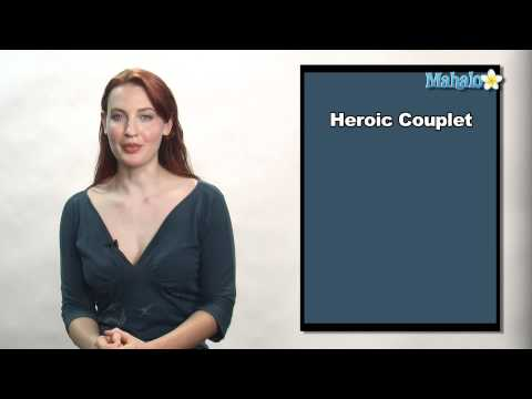how to write a heroic couplet poem