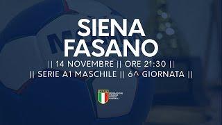 Serie A1M [6^]: Siena - Fasano 20-27