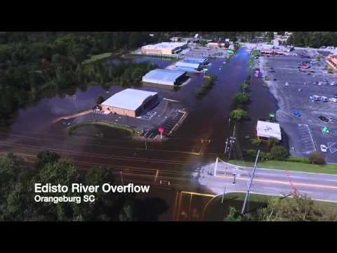 Drone Footage Of Edisto River Overflow Orangeburg SC