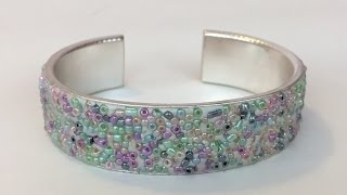DIY Bangle with Seed Beads