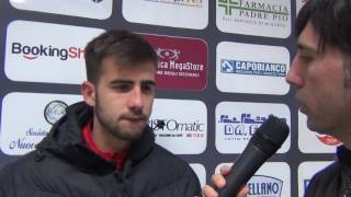 Foggia - Messina 3-0, intervista a Francesco Deli