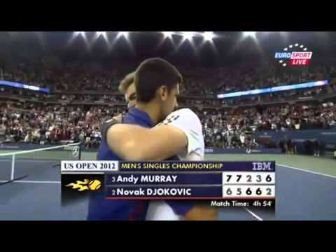 Andy Murray Winning US Open 2012 vs Novak Djokovic