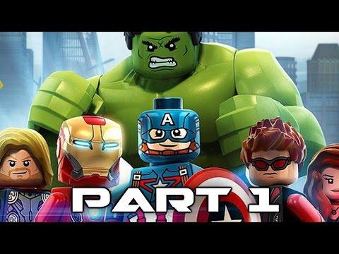 Lego Marvel Avengers Walkthrough Gameplay Part 1 - Ultron (Video Game)