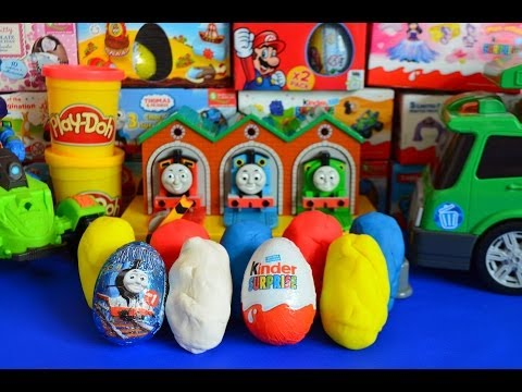 Play-Doh Surprise Eggs Thomas And Friends Kinder Surprise LPS Cars 2 Shrek 托马斯&朋友