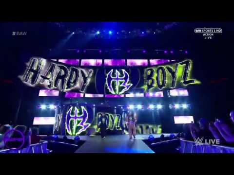WWE Jeff Hardy Entrance With No More Words Theme Song 4/17/17