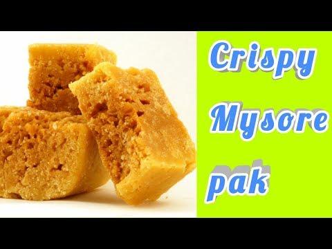 crispy mysore pak/deepavali recipe#9/mysore pak recipe in tamil