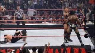 Rhyno & Booker T vs Chris Jericho & The Rock part 1