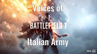 Battlefield 1 Italian Voices