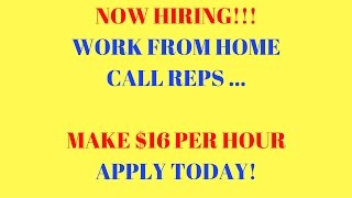 Work From Home | Making $16 per hour | Customer Service Rep