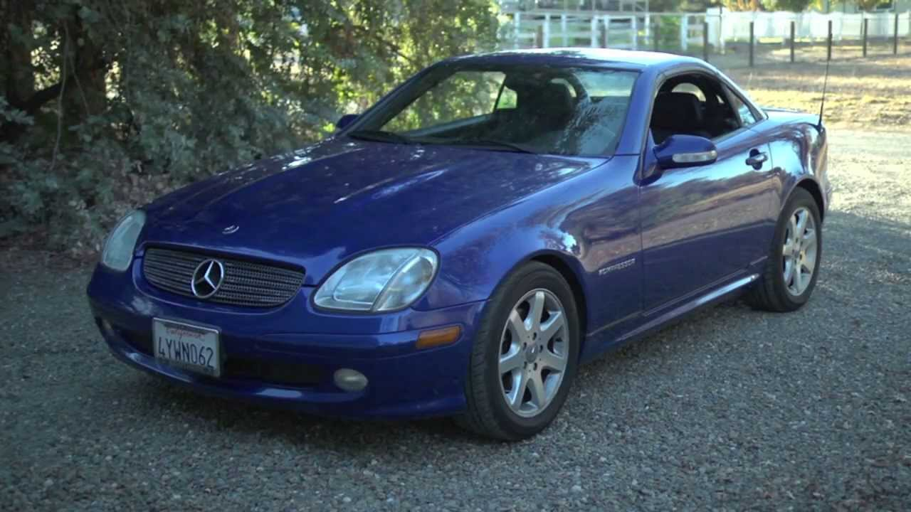 2002 mercedes benz slk 230 kompressor youtube