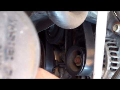 DIY How to install replace the drive belt on a 2005 Toyota Matrix Corolla