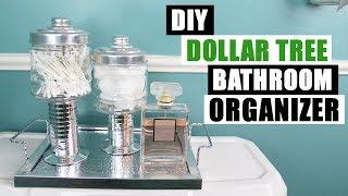 DIY DOLLAR TREE BATHROOM OR VANITY ORGANIZERS AND TRAY DIY Bathroom Storage