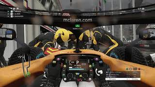 F1 2018 20 Lap Race POV Monaco Rain in McLaren Renault