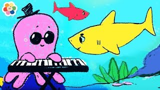 The Baby Shark Song | Sing and Dance | Coloring Pages for Kids by BabyFirst
