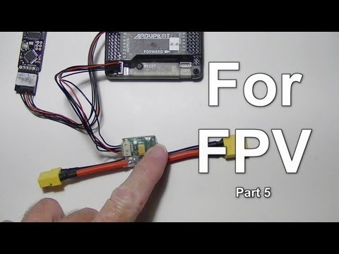 FPV Part 5: 3DR APM 2.6 Setup for Power Module and MinimOSD Battery Voltage.