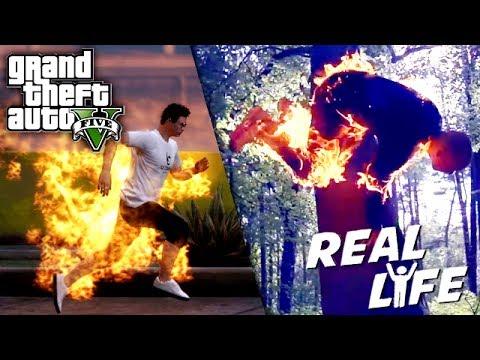GTA 5 VS REAL LIFE 8 ! (fun, fail, stunt, ...)