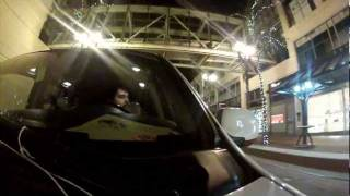 Portland Oregon At Night - GoPro Hero 2 HD Low Light Test w/ Suction Cup Mount
