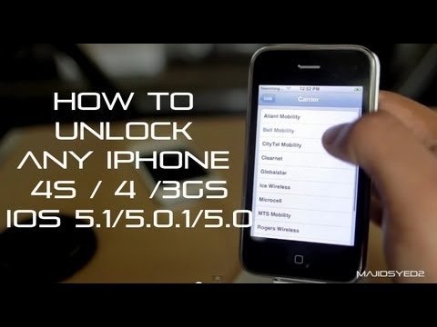 How To Unlock iPhone 4S / 4 / 3GS iOS 5 - SAM Method